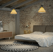 Industrial bedroom. A Design, Installations, and 3D project by David Palomino Bautista         - 25.11.2013