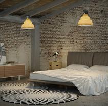 Industrial bedroom. Un proyecto de Diseño, Instalaciones y 3D de David  Palomino Bautista - 25-11-2013