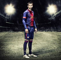 NIKE EQUIPACION F.C.BARCELONA 2012/13. A Advertising, and Photograph project by DAVID  CASAS SANCHEZ         - 21.09.2012