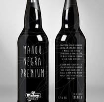 Mahou Negra Premium. Un proyecto de Diseño, Ilustración y Publicidad de Pedro  Manero Aranda - Viernes, 29 de noviembre de 2013 00:00:00 +0100