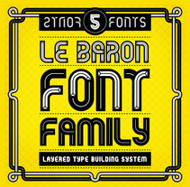 Le Baron - Free Font Family. A Design, T, pograph, and Graphic Design project by mimetica - Nov 29 2013 12:00 AM
