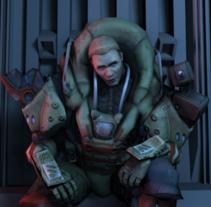 Personaje Scify. Basado en el concept de RedSteam Gameloft. A 3D project by Nacho Garranzo García - Ibarrola         - 11.12.2013