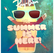 RayBan - Summer is Here!. A Design, Illustration, Advertising, and 3D project by Federico Cerdà         - 20.01.2014