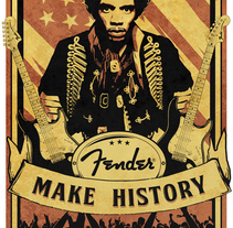 Fender - Make History. A Illustration project by Pedro Ramos - 04-02-2014