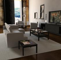 Interior Salón . A 3D&Interior Architecture project by Marcos Sanchez Puñal - 04-02-2014
