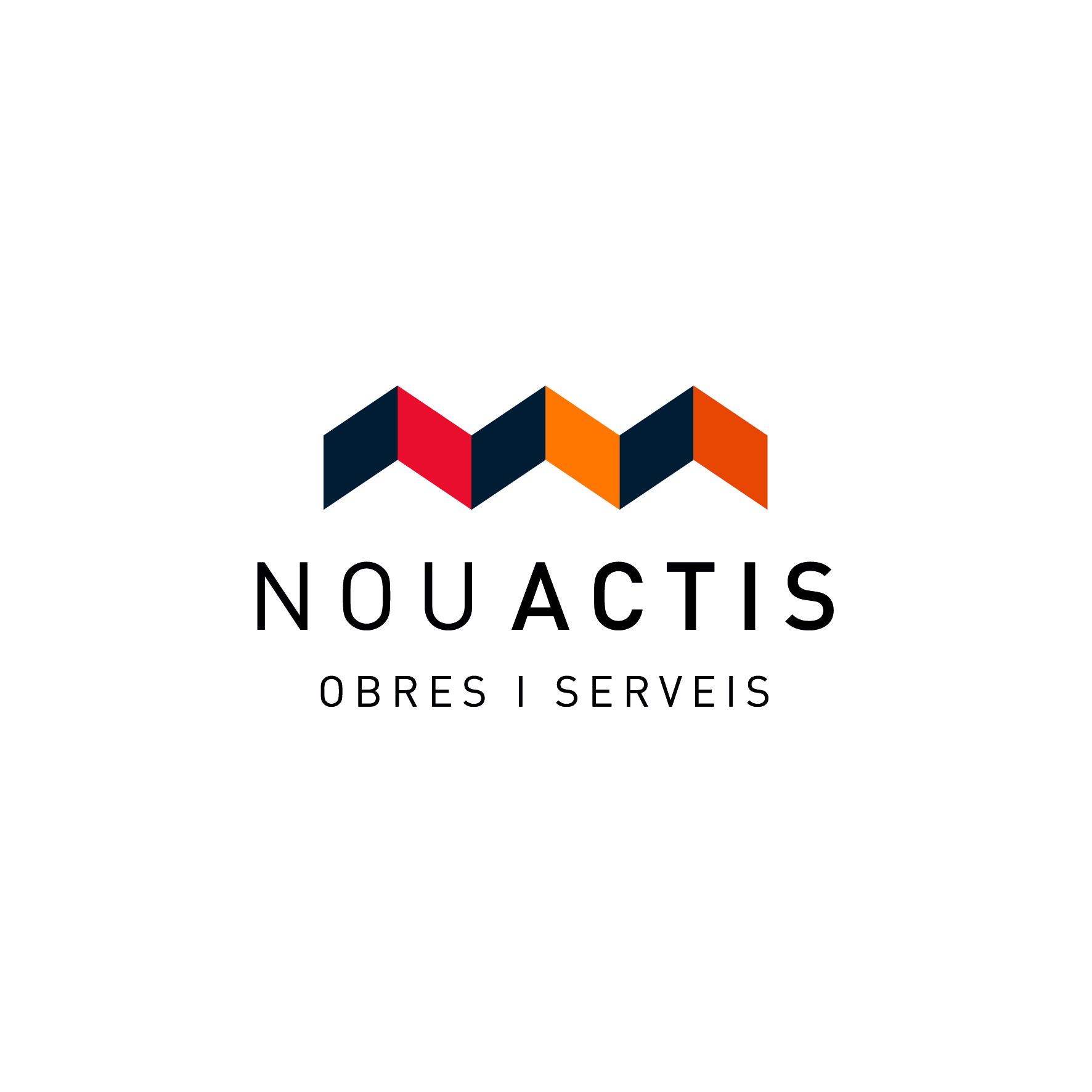 Logotipo para nou actis empresa de construcci n domestika - Empresas de construccion en madrid ...