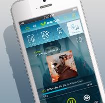 Music Store & Player Movistar. Trabajo para Genexies Mobile.. Un proyecto de Diseño, Gestión del diseño, Diseño gráfico y Diseño interactivo de Oscar Tello Martín - 29-12-2013