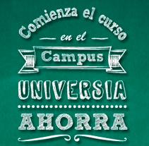 Micro Back to school para Universia (Banco Santander), ¡visítalo en http://xurl.es/mhc5s o en el link de abajo!. Un proyecto de Ilustración, Diseño gráfico y Diseño Web de Marta Páramo Vicente         - 31.08.2013