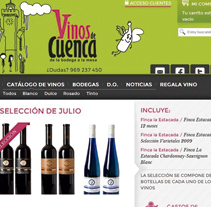 TIENDA ONLINE VINOS DE CUENCA. A Web Development project by Javier Patiño - Mar 10 2014 12:00 AM
