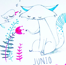 Catlendario. A Illustration project by Laura Pastor - Jan 01 2014 12:00 AM