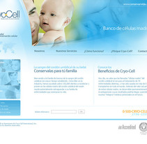 WEB SITE - CRYO-CELL. A Design, Web Design, and Web Development project by Luis Miguel Pittol Mendoza         - 15.03.2014