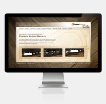 Fusteria Antoni Navarro. A Web Design project by Cristina Fabregas Escurriola         - 17.03.2014