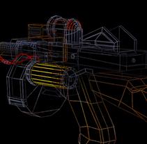 Arma 3D preparada para videojuego (concepto basado en Bioshock). Um projeto de 3D de Nomadic Blink         - 20.03.2014