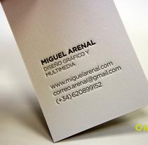 10 tarjetas impresas en letterpress. Un proyecto de Br, ing e Identidad, Diseño, Diseño gráfico y Tipografía de Omán Impresores  - Martes, 25 de marzo de 2014 00:00:00 +0100