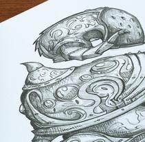 Bocetos de set de Armadura Abyss . Um projeto de Design de Marcos Neila Muro         - 21.04.2014