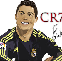 Cristiano Ronaldo. A Illustration project by Erick Miguel  Martínez Ortega       - 04-05-2014