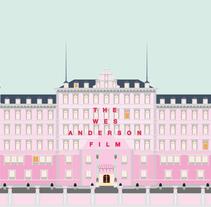 Illustración Wes Anderson. Un proyecto de Ilustración y Diseño gráfico de Claudia Aguado Vaquero         - 05.05.2014