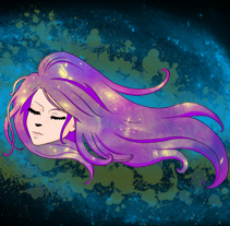 Galaxy. A Illustration, Character Design, and Graphic Design project by Adrian Heredia Pozo - 09-05-2014