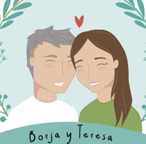 Boda Teresa y Borja. A Illustration project by Silvia Iglesias - 20-05-2014