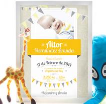 Cuadros de nacimiento. Un proyecto de Diseño, Diseño gráfico y Diseño de producto de Alexandra Fernández Tello - 23-05-2014