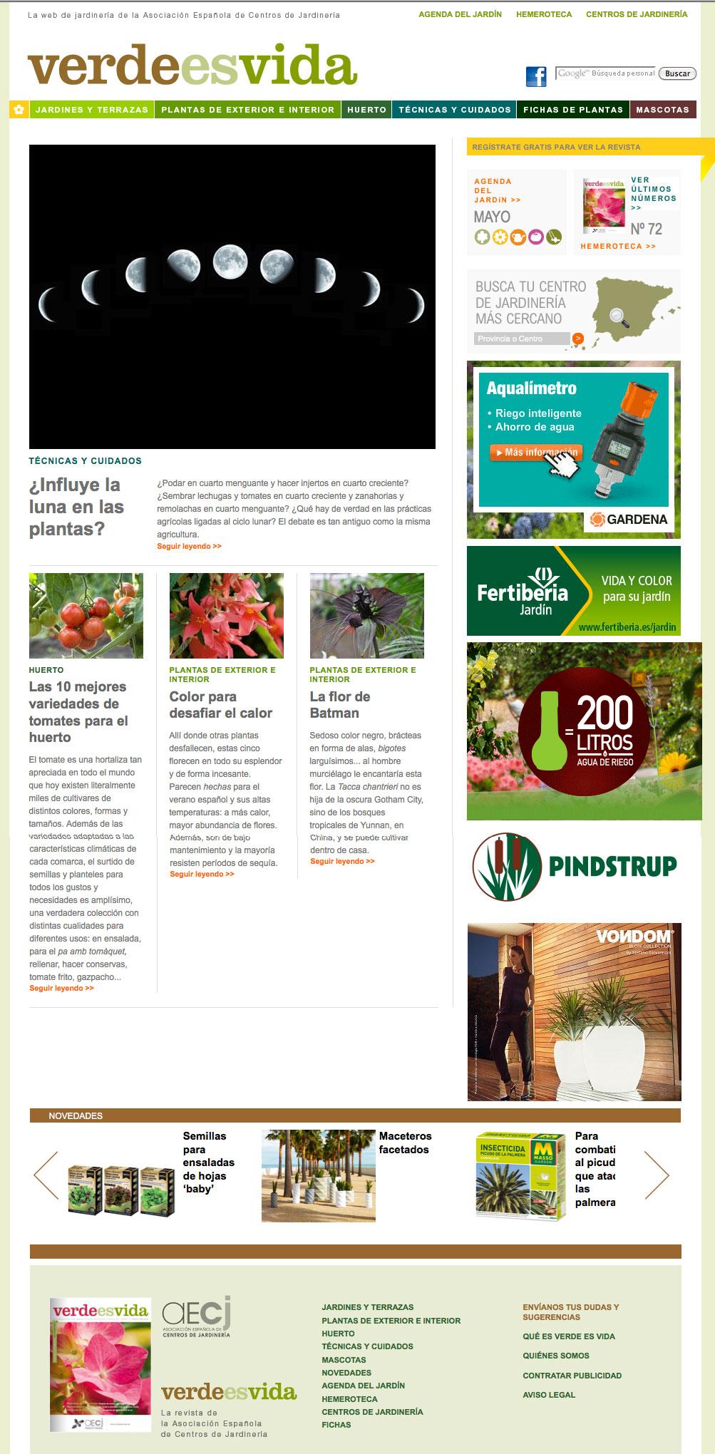Verdeesvida pagina a medida para la asociaci n espa ola for Paginas de jardineria