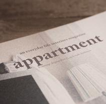 appartment. Um projeto de Design, Design editorial e Design gráfico de Helena Artola Riera - 20-05-2014
