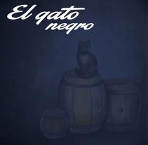 El gato negro. A Illustration, Software Development, Animation, Art Direction, Editorial Design&Interactive Design project by Alejandra  Dorantes Reséndiz - 26-05-2014