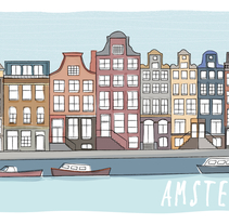 Postcard cities. Un proyecto de Ilustración de mädda_lenä  - 31-05-2014