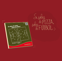 """Telepizza """"Si sabes de pizza sabes de fútbol"""". Un proyecto de Animación, Dirección de arte, Ilustración, Motion Graphics y Publicidad de Antonia y Pepa  - 04.06.2014"""