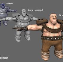 Troll Lowpoly Game Character. Un proyecto de 3D de Roberto Ampudia Sanchez - Miércoles, 11 de junio de 2014 00:00:00 +0200