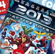 Diseño de catálogos de juguetes y cometas para Eolo-Sport. Um projeto de Br, ing e Identidade, Design editorial e Design gráfico de David Figuer - 15-06-2014