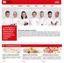 7 magníficos. Um projeto de Web design e Desenvolvimento Web de Alba Junyent Prat         - 25.06.2014