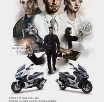 KYMCO XCITING 400i. Um projeto de Ilustração, Publicidade e Design gráfico de Marc Valls         - 02.07.2014