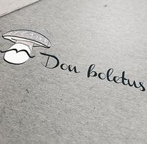 Don Boletus-Logotipo y naming. Um projeto de Direção de arte, Br, ing e Identidade e Design gráfico de Esther HIJANO MUÑOZ - 03-07-2014