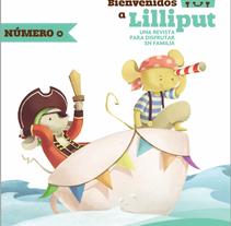 """Portada revista """"Bienvenidos a Lilliput"""" nº0. Um projeto de Ilustração e Design de personagens de Carmen Nogales - 10-12-2013"""