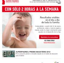 Superpadres - Contenidos web y piezas de captación. Un proyecto de Publicidad, Marketing y Escritura de Sonia Gago - 13-07-2014
