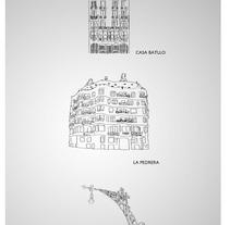 Ilustraciónes proyectos Gaudí . Un proyecto de Ilustración de José Antonio  Serrada García         - 17.07.2014