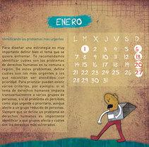 Calendario ilustrado para el INDH de Chile. Un proyecto de Diseño e Ilustración de carmela usoz otal - Domingo, 21 de agosto de 2016 00:00:00 +0200