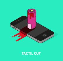 Tactile Cut Font. A Art Direction, Illustration, T, and pograph project by Manu Arranz - Jul 21 2014 12:00 AM