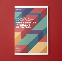 Diseño del Informe sobre redes sociales y empleo 2013. Um projeto de Design editorial de Menta         - 22.07.2014