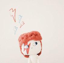 David Bowie Doll. Um projeto de Design de personagens e Artesanato de lelelerele - 25-07-2014