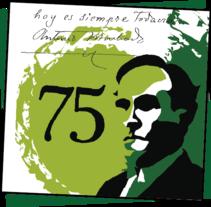 Antonio Machado 75 aniversario. A Advertising, and Graphic Design project by Ruth Sabater         - 30.09.2013