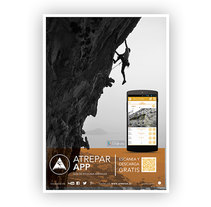 Poster 'Atrepar App'. A Design, Editorial Design, and Graphic Design project by Maria  Navarro          - 04.08.2014