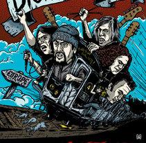 Póster del Tour Europeo de 2014 de The Dictators. Un proyecto de Diseño gráfico e Ilustración de Marcos Cabrera - Viernes, 08 de agosto de 2014 00:00:00 +0200