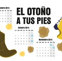 Mi Proyecto del curso Ilustrando el tiempo - Un año a tus pies (calendario). A Illustration, Fashion, and Shoe Design project by Ana García Colomina         - 26.08.2014