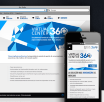 Web Corporativa VirtualCenter360. A UI / UX, Br, ing, Identit, Graphic Design, and Web Design project by Marta Solis         - 30.04.2013