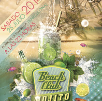 Cartel y Flyer Beach Club Mojito. A 3D, Art Direction, Br, ing, Identit, and Graphic Design project by O'DOLERA         - 04.09.2014