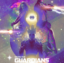 Guardians of the Galaxy. A Illustration, Film, Video, TV, and Art Direction project by Laura Racero         - 16.09.2014
