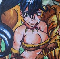 Trabajos Tradicionales, Copic . A Illustration, and Character Design project by Paula  Artiles Heras         - 17.09.2014