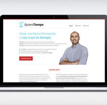 Quiero Tiempo, diseño web e identidad de marca. Un proyecto de Diseño Web de Maialen Echaniz Olaizola - Viernes, 19 de septiembre de 2014 00:00:00 +0200